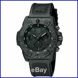 Luminox Navy Seal Chrono CARBONOX Black Dial Rubber Band Men's Watch XS. 3581. BO