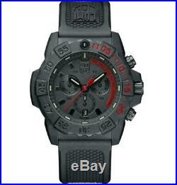 Luminox Navy Seal Chrono CARBONOX Black Dial Rubber Band Men's Watch XS. 3581. EY