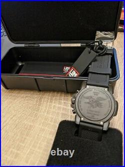 Luminox Navy Seal Colormark Blackout Dial Chronograph Watch XS. 3081. BO. F