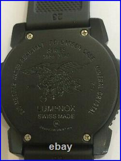 Luminox Navy Seal Colourmark Black Edition Watch with New Genuine Rubber Strap