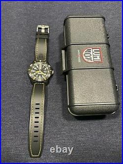 Luminox Navy Seal Coronado 3025 Series Black & Yellow Watch, EXCELLENT