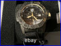 Luminox Navy Seal Lm3501 Gold. Set Limited Men's Watch Full Set Stickers On