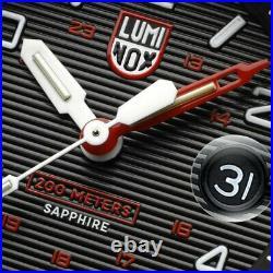 Luminox Navy Seal Magnifying Glass 3615 Carbonox 45mm Black Rubber Men's Watch