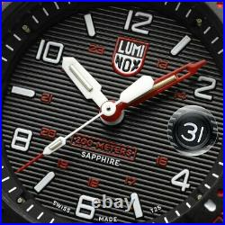 Luminox Navy Seal Magnifying Glass 3615 Carbonox 45mm Red Rubber Men's Watch