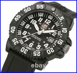 Luminox Original Navy SEAL 3000 Series Black CARBONOX Rubber Strap Men XS. 3051. F