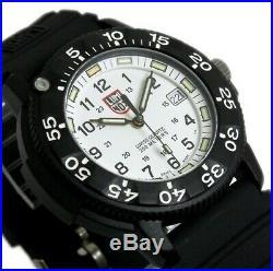 Luminox Original Navy SEAL Dive 3007 White Dial Rubber Strap Wrist Watch for Men