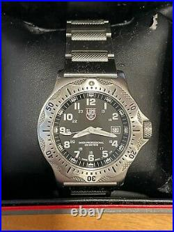 Luminox Ultimate Navy Seal Dive 8002(Black face withSteel). Retail price $500