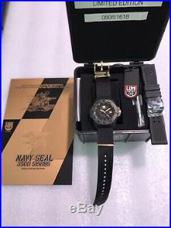 Luminox Watch XS. 3501. GOLD Navy Seals 3500 Series Limited Edition 1618 Made