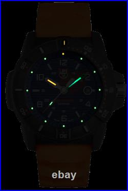 Luminox XS. 3603 Navy Seal Men's Orange Rubber Strap Blue Dial 45mm Case Watch