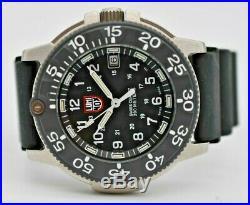 Men's LUMINOX Series 3100 Swiss Made Navy Seal Diver Watch, Stainless Steel, Exc