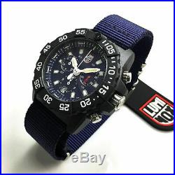 Men's Luminox Navy SEAL Chronograph Diver's 45mm Watch 3583. ND