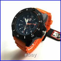 Men's Luminox Navy SEAL Diver's 200 Meter Orange Strap Watch 3603
