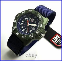 Men's Luminox Navy SEAL Trident Diver's Blue Nylon Strap Watch 3503. ND