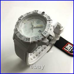 Men's Luminox Navy SEAL Trident White Diver's 45mm Watch 3507. WO