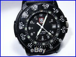 Mens 43mm Luminox Navy Seals Black Dial 200M Quartz Watch