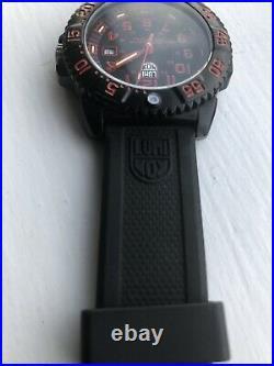 Mens Luminox Red Navy Seals 3050 Watch