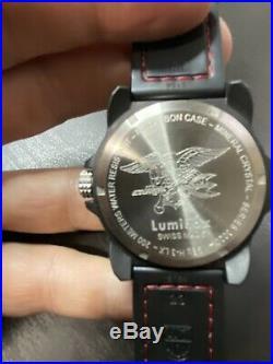 NEW Luminox 3020 Coronado 44mm Case Red Military Navy Seal Mens Watch