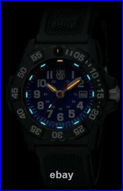 NEW Luminox 3503 Navy Seal Trident Blue Dial Rubber Strap 45mm Case Watch