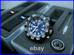 NEW Luminox Navy SEAL 3000 Series Quartz Blue Dial Men's Watch GGL. L3054. SET