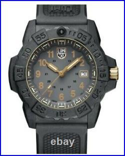 NEW Luminox Navy SEAL 3500 Series Quartz GREY/GOLD Dial Men's Watch XS. 3508. GOLD
