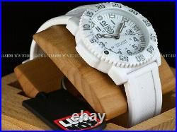 NOS Luminox Mens Navy Seal Colormark SWISS MADE Quartz White Dial Silicone Watch