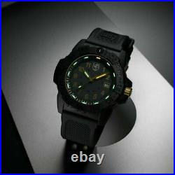 NWT Genuine Luminox XS. 3508. GOLD Navy SEAL Black Military Dive Watch
