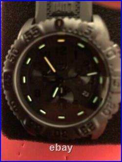 New LUMINOX Navy Seal Colormark Chronograph Watch XS. 3081. BO. F Darkside Blackout