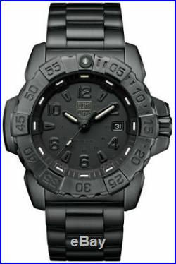 New Luminox Navy Seal 3250 Stainless Steel Black Dial Men's Watch XS. 3252. BO