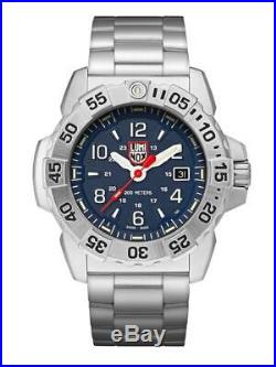 New Luminox Navy Seal 3250 Stainless Steel Blue Dial Men's Diver Watch XS. 3254