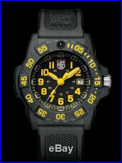 New Luminox Navy Seal 3500 CARBONOX Yellow Dial Rubber Band Men's Watch XS. 3505
