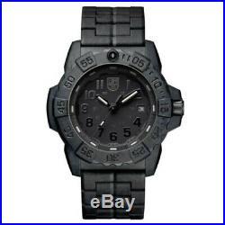 New Luminox Navy Seal 3500 Series 45mm Black Dial Black Arabic Bracelet 3502. Bo
