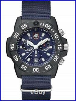 New Luminox Navy Seal 3500 Series Chrono 45mm Blue Dial Blue N. A. T. O 3583. Nd