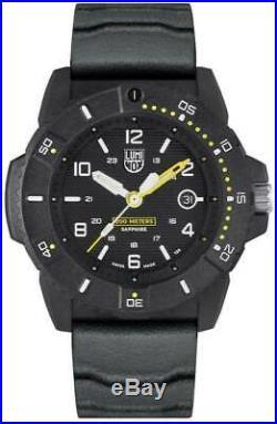 New Luminox Navy Seal 3600 CARBONOX Black Dial Rubber Band Men's Watch XS. 3601