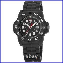 New Luminox Navy Seal Black Dial Black Stainless Steel Men's Watch XS. 3502. L