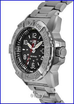 New Luminox Navy Seal Black Dial Stainless Steel Men's Watch XS. 3252