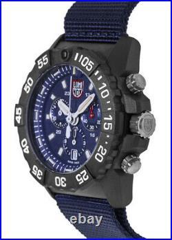 New Luminox Navy Seal Blue Chronograph Dial Blue Fabric Men's Watch XS. 3583. ND