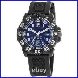 New Luminox Navy Seal Blue Dial Black Rubber Strap Men's Watch XS. 3053. SOC. SEF