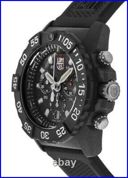 New Luminox Navy Seal Chronograph Black Dial Black Rubber Men's Watch XS. 3581