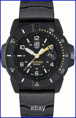 New Luminox Navy Seal Sea Series 45mm Black Dial Black Rubber Arabic Number 3601