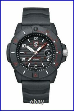 New Luminox Navy Seal Sea Series 45mm Black Dial Black Rubber Arabic Number 3615
