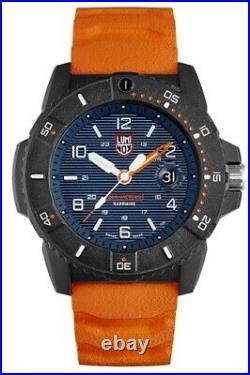 New Luminox Navy Seal Sea Series 45mm Blue Dial Orange Rubber Arabic Number 3603
