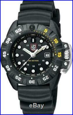 New Luminox SCOTT CASSELL DEEP DIVE CARBONOX Black Dial Men's Watch XS. 1555