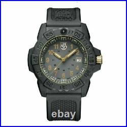 Original Luminox XS. 3508. GOLD Navy SEAL Black Military Dive Watch