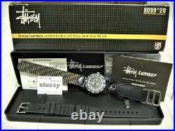 STUSSY x LUMINOX 2 Belt & Compass LIMITED EDITION US Navi Seal Dive Watch