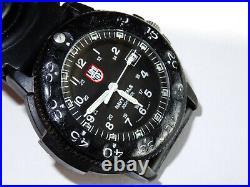Used 43mm Luminox Navy Seals 3000 Black Dial 200M Watch withLuminox Case
